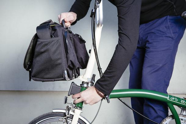 Brompton smallest folding bike luggage system