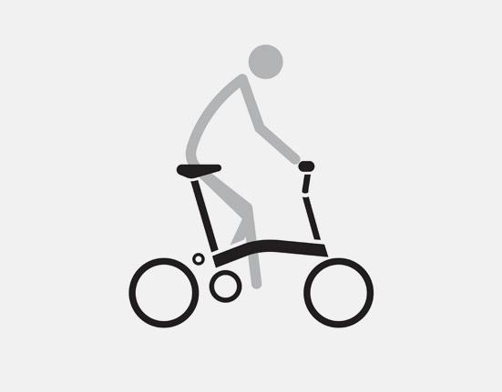 M Type Ride on small folding bike